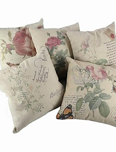 Createforlife 18 ® »Set de 5 florale colorée Papillons de toile de coton place Taie Housse de coussin
