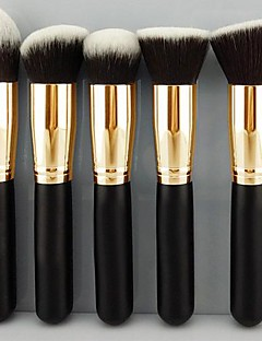 5 Set di pennelli Capelli sintetici Legno Viso / Labbro / Occhi