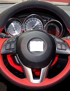 Cuero genuino de la cubierta del volante Negro Suede Xuji ™ Red para 2012 2013 Mazda CX-5 CX5 Mazda Atenza 2014 Mazda 3