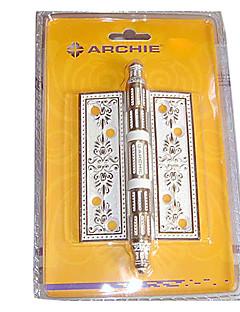 102mm × 76mm Elfenben Hvit Pure Copper med blomst Carved Craft dørhengselen