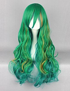 Cosplay Wigs Cosplay Cosplay Green Long Anime Cosplay Wigs 80 CM Heat Resistant Fiber Male