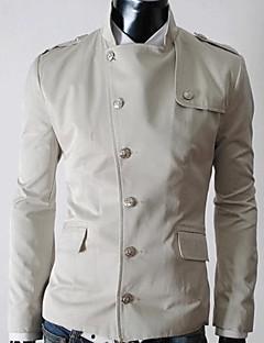 Все мужские стенд воротник сплошной цвет куртки