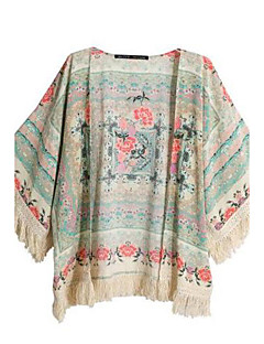 נמר חולצה נשים,אביב / קיץ שרוול ארוך צבעוני אטום כותנה
