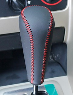 XuJi ™ Black Genuine Leather Gear Shift Knob Cover for Peugeot 307 Peugeot 408 Automatic