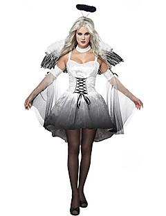 Cosplay Kostýmy / Kostým na Večírek Angel & Devil Festival/Svátek Halloweenské kostýmy Černá/bílá Retro Šaty / Vlasové ozdoby / Křídla
