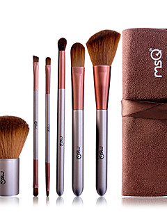 MSQ® 6pcs Makeup Brushes set Goat Hair Powder brush Concealer brush Eyeshadow Brush Lip Brush Eye Lashes Brush Makeup Tools Kit Cosmetic Brushes