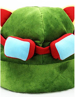 Hat/Cap Inspired by LOL Cosplay Anime/ Video Games Cosplay Accessories Hat Green Polar Fleece Male / Female