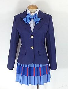 Inspirovaný Love Live Maki Nishikino Anime Cosplay kostýmy Cosplay šaty Pléd Fialová Dlouhé rukávy Kabát / Tričko / Sukně