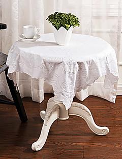 """estilo simples bordado quadrado toalha de mesa branca, 50% dacron e 50% algodão 33.5 """"* 33.5"""""""