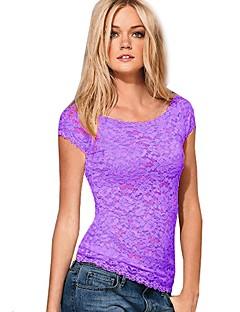 kvinners blonder kort erme behagelig t-skjorte