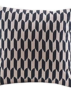 élégant coton géométrique / lin taie d'oreiller décoratif