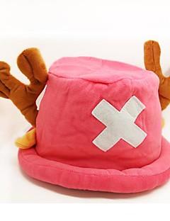 כובע קיבל השראה מ One Piece Tony Tony Chopper אנימה אביזרי קוספליי כובע ורוד פליס פולאר זכר / נקבה