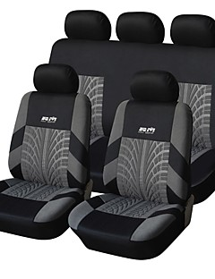 9 stuks set Car Seat Covers Voor Materiaal Polyester Technology Heat-Reliëf Universal Fit