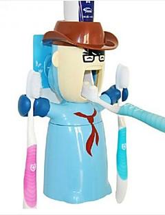 liebe Krieger Multifunktions Squeeze Zahnpasta Zahnbürstenhalter Spender, stellen Kunststoff 3 Stück zufällige Farbe