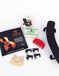 4/4 Plastic Shoulder on The violin+Rosin+Tuner+Jean Code+Four Fine-Tuning+Mute+Strings