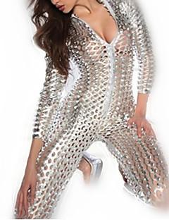 Costumi Cosplay Uniformi Feste/vacanze Costumi Halloween Nero Oro Argento Incavato Abito Donna Pelle