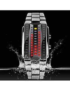 Férfi / Női / Unisex Divatos óra Digitális LED Rozsdamentes acél Zenekar Fekete / Ezüst Márka- SKMEI