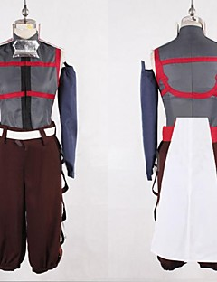 Inspired by Log Horizon Akatsuki Anime Cosplay Costumes Cosplay Suits Patchwork Red / Brown / Gray Long Sleeve Vest / Pants / Belt