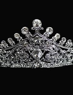 왕관 여성/플라워 걸 웨딩 합금 투구 웨딩
