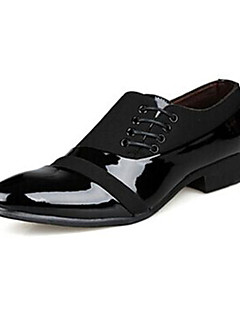 Men's Shoes Office & Career/Casual/Party & Evening Leather/Patent Leather Oxfords Black