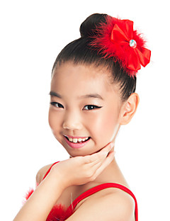 Dance Accessories Headpieces Children's Training Satin / Feathers