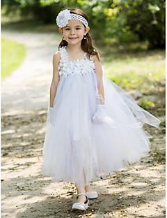 baljurk vierkante enkellange rayon bloem meisje jurk met bloemen (meer kleuren)