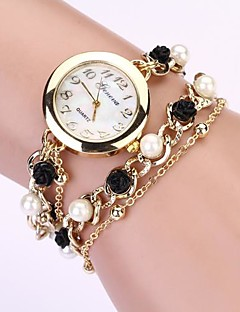 Dame Moteklokke Armbåndsur Imitasjon Diamant Quartz Metall Band Perler Elegante klokker