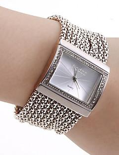 Damen Modeuhr Armband-Uhr Japanisch Quartz Kupfer Band Glanz Elegante Luxuriös Silber Silber