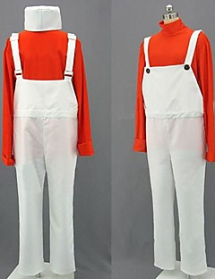 Cosplay Costumes / Party Costume Cosplay Festival/Holiday Halloween Costumes Red / White Patchwork Top / Pants / Hat Halloween Unisex