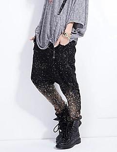 Céu estrelado jeans skinny de qlzw®women harem calças compridas