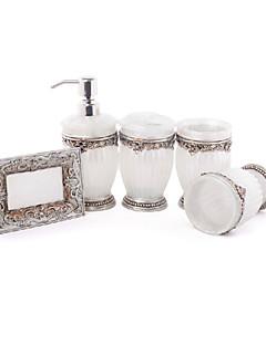 5 db fürdő gyűjtemény készlet műgyanta anyagból, fürdő együttes, fürdő tartozék készlet