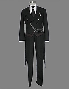 Inspired by Black Butler Sebastian Michaelis Anime Cosplay Costumes Cosplay Suits Solid Black Long Sleeve Tuxedo / Vest / Pants / Tie