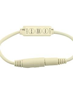 Mini-Dimmer Controller 3 Tasten für 5050 3528 einfarbige LED-Lichtband mit 2,1 mm-Stecker (12V 6A)