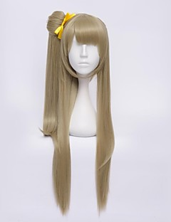 Cosplay Wigs Love Live Kotori Minami Yellow Medium Anime Cosplay Wigs 65 CM Heat Resistant Fiber Female