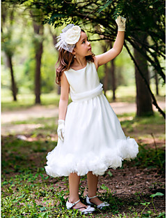 Vestido de niña de las flores - Corte Princesa Hasta la Tibia - Seda