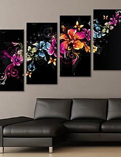 întinsă panza arta floare superba decorare set de 4