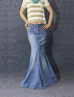 jeans dell'annata sirena casuali delle donne gonna lunga