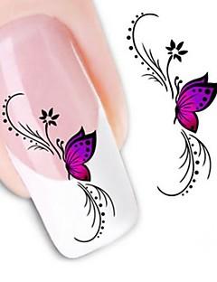 water transfer printen nagel stickers xf1438