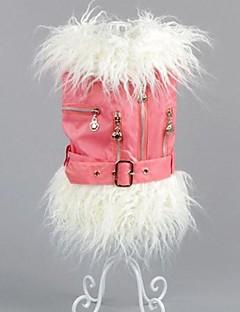 Dog Coat Black / Pink / Beige Dog Clothes Winter Solid