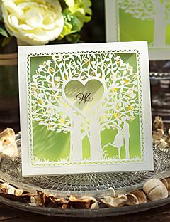 Nem személyre szabott Felfelé nyíló Esküvői Meghívók Meghívók Klasszikus stílus Kártyapapír 15*15 cm