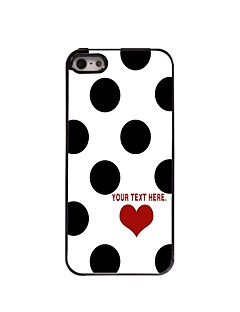 Personalized Case Elegant Dots Design Metal Case for iPhone 5/5S