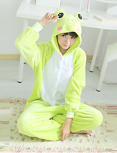 Lovely Frog Green Polar Fleece Unisex Kigurumi Pajamas Cartoon Sleepwear Animal Halloween Costume