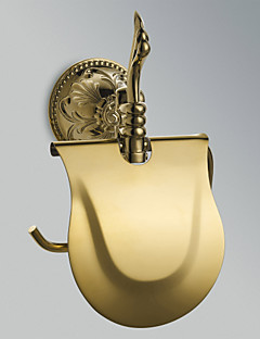 """Toilet Paper Holder Ti-PVD Wall Mounted 210 x 185 x 80mm (8.26 x 7.28 x 3.14"""") Brass Antique"""