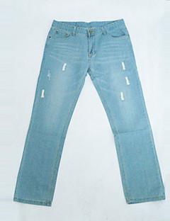 Ανδρική Μόδα Κέντημα Slim Long Jeans