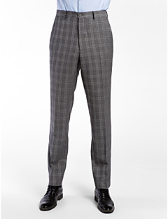 cinza de lã 100% adaptado calça fit