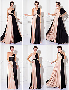TS Couture® Mix&Match Convertible Dress Floor-length Knit Sheath/Column Evening Dress