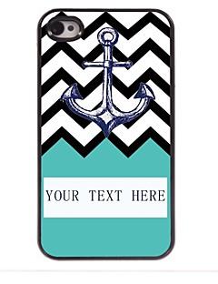 âncora presente personalizado no caso design de metal ripple para iPhone 4 / 4S