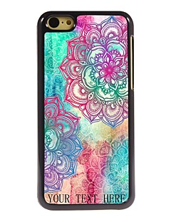 Personalized Gift Elegant Flower Design Metal Case for iPhone 5C