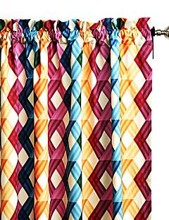 philips jeune - (un panneau) multi couleurs contemporaines qui se chevauchent réseau rideau
