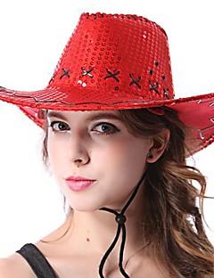 Multicolor Western Cowboy Woman's Halloween Party Hat